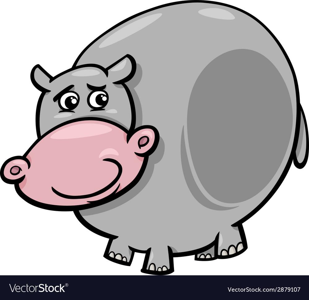 Hippopotamus animal cartoon vector | Price: 1 Credit (USD $1)