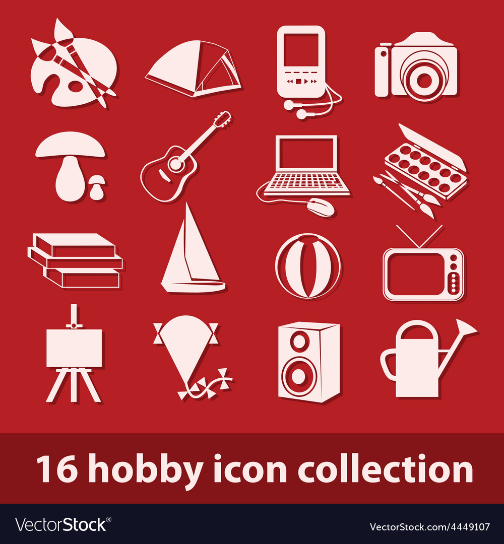 Hobby icon collection vector | Price: 1 Credit (USD $1)