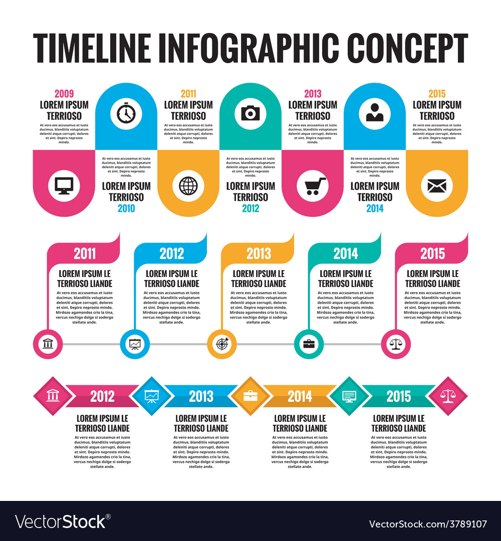 Infographic concept - timeline vector | Price: 1 Credit (USD $1)