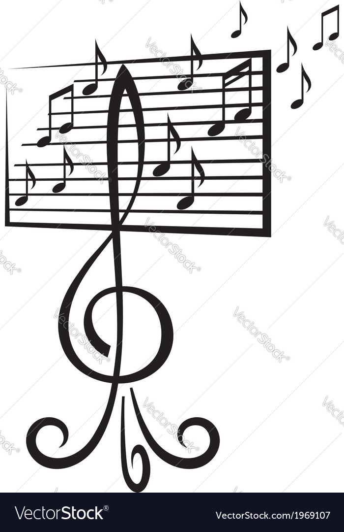 Music stand vector | Price: 1 Credit (USD $1)