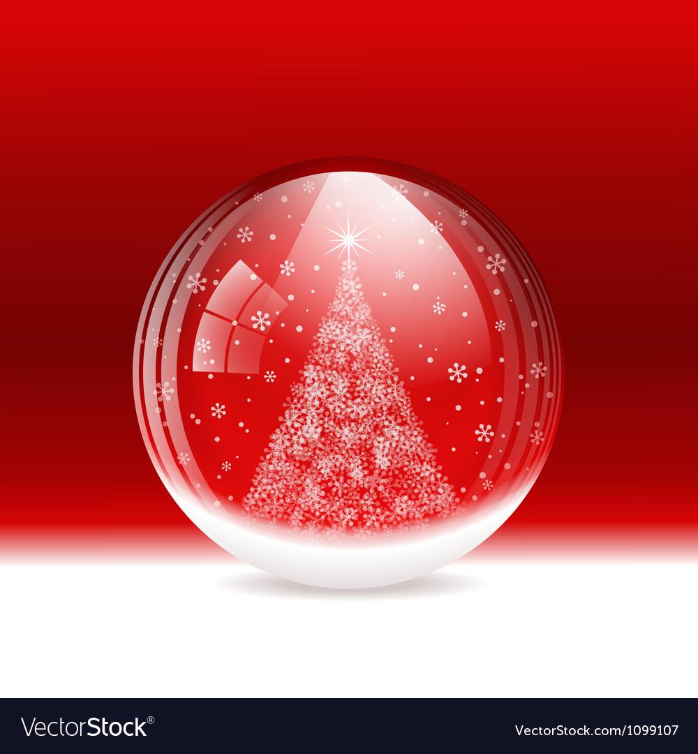Snow globe vector | Price: 1 Credit (USD $1)