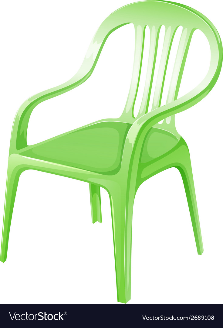 A green plastic chair vector | Price: 1 Credit (USD $1)