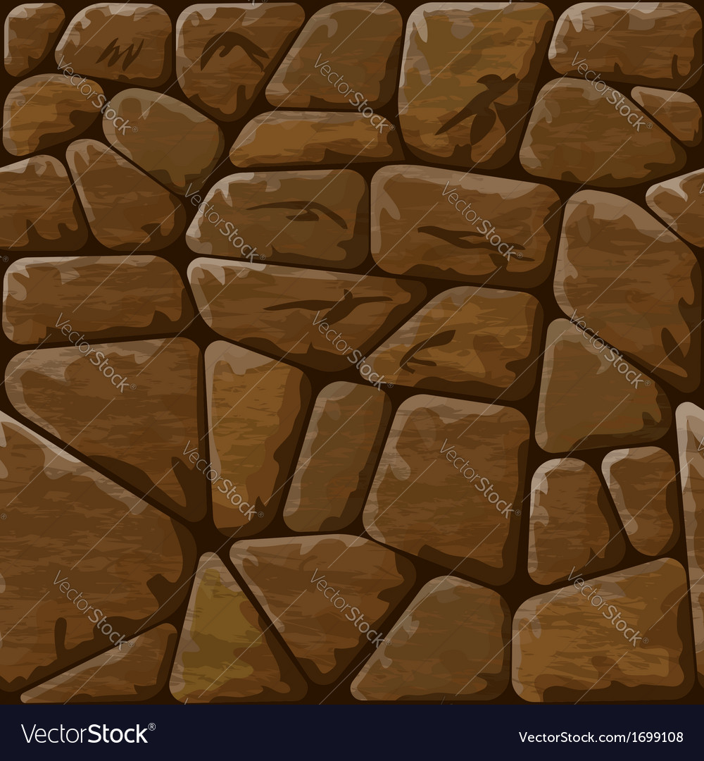Brown stone seamless pattern vector | Price: 1 Credit (USD $1)
