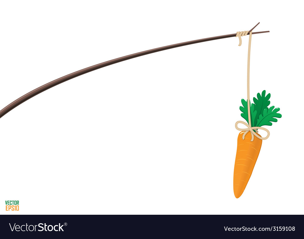 Carrot and stick motivation vector | Price: 1 Credit (USD $1)