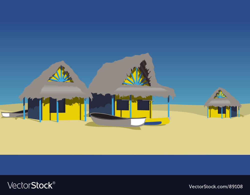 Exotic beach vector | Price: 1 Credit (USD $1)