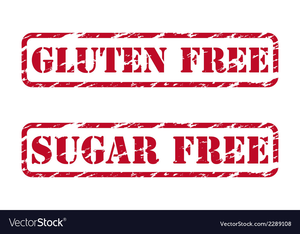 Gluten free and sugar free rubber stamps vector | Price: 1 Credit (USD $1)