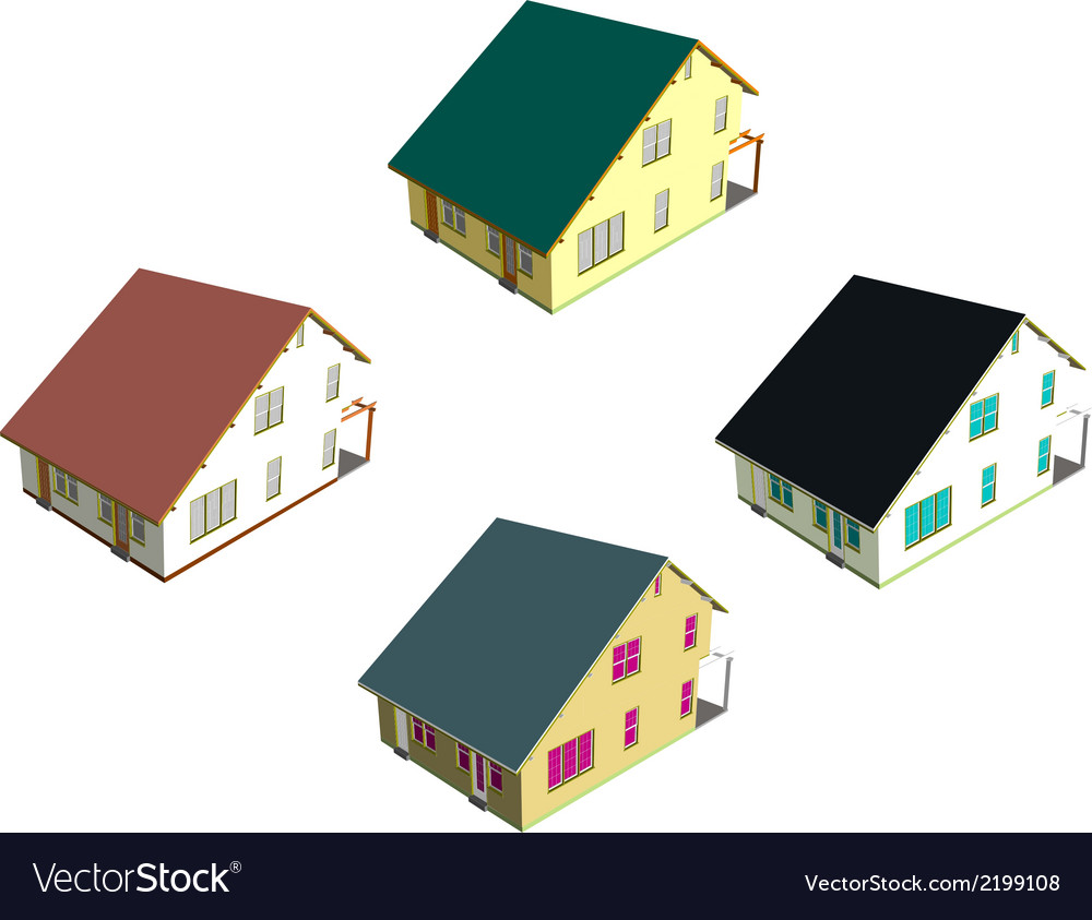 Isometric house style 7 vector | Price: 1 Credit (USD $1)
