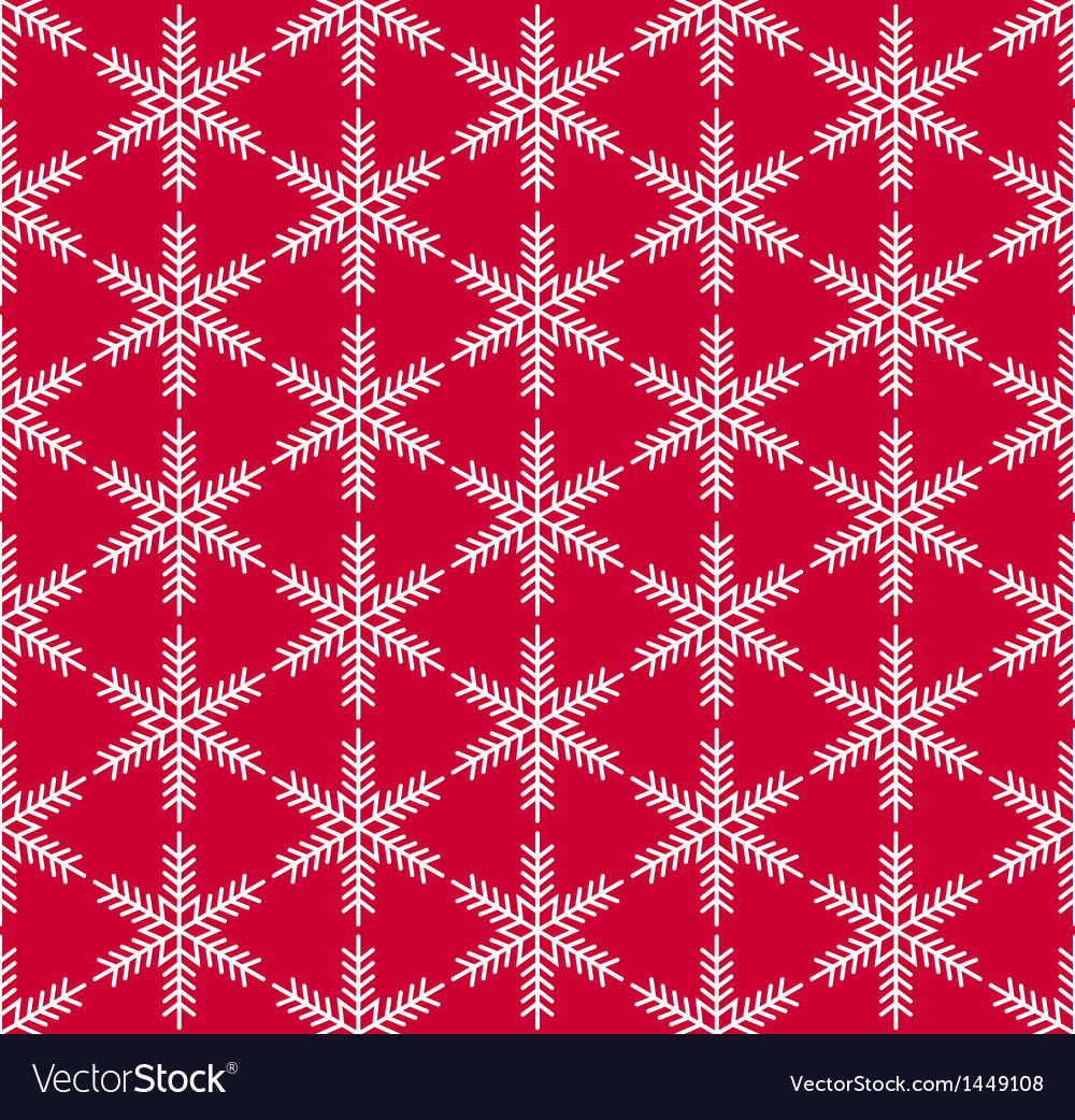 Red seamless snowflake pattern vector | Price: 1 Credit (USD $1)