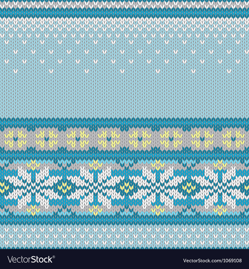 Seamless knitted pattern with snowflakes vector | Price: 1 Credit (USD $1)