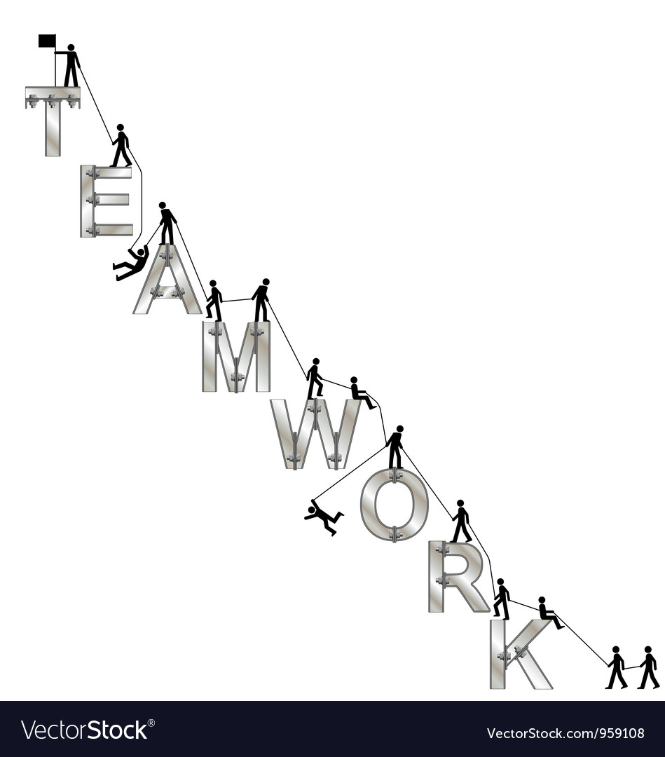 Teamwork message vector | Price: 1 Credit (USD $1)