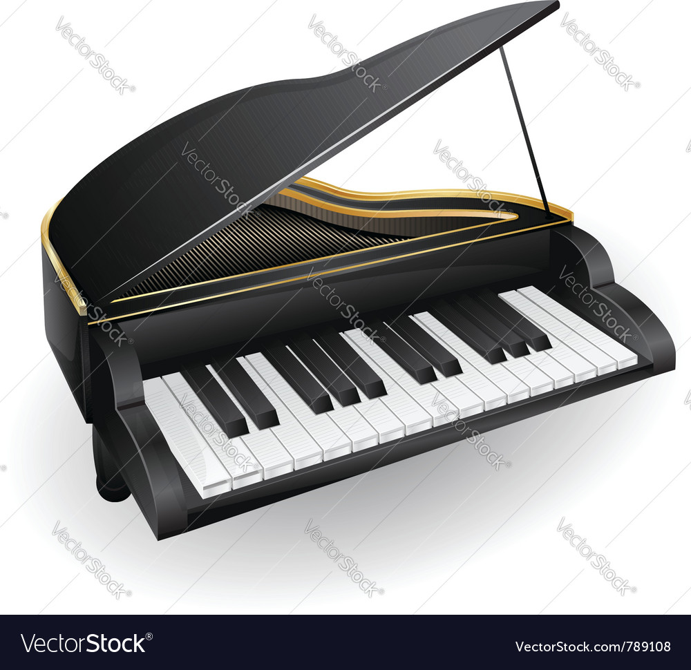 With black piano musical instrument vector | Price: 3 Credit (USD $3)