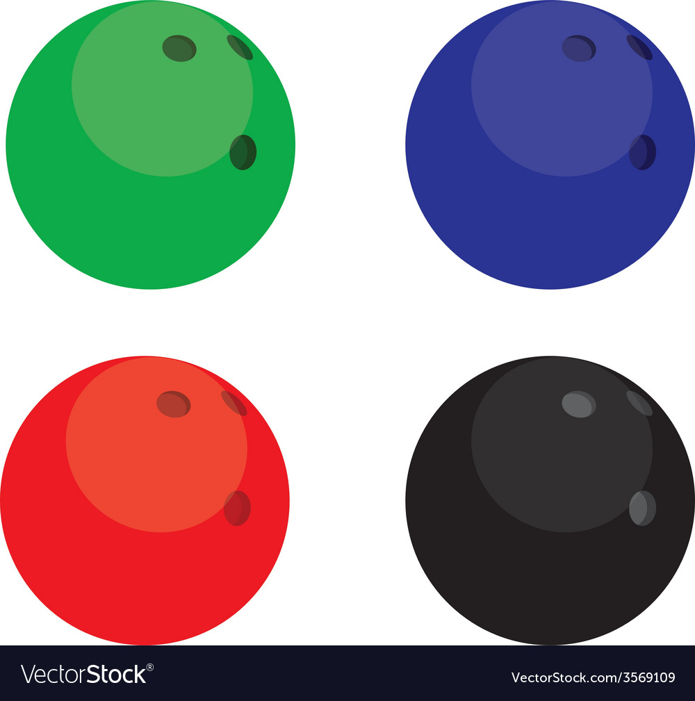 Bowling balls color vector | Price: 1 Credit (USD $1)