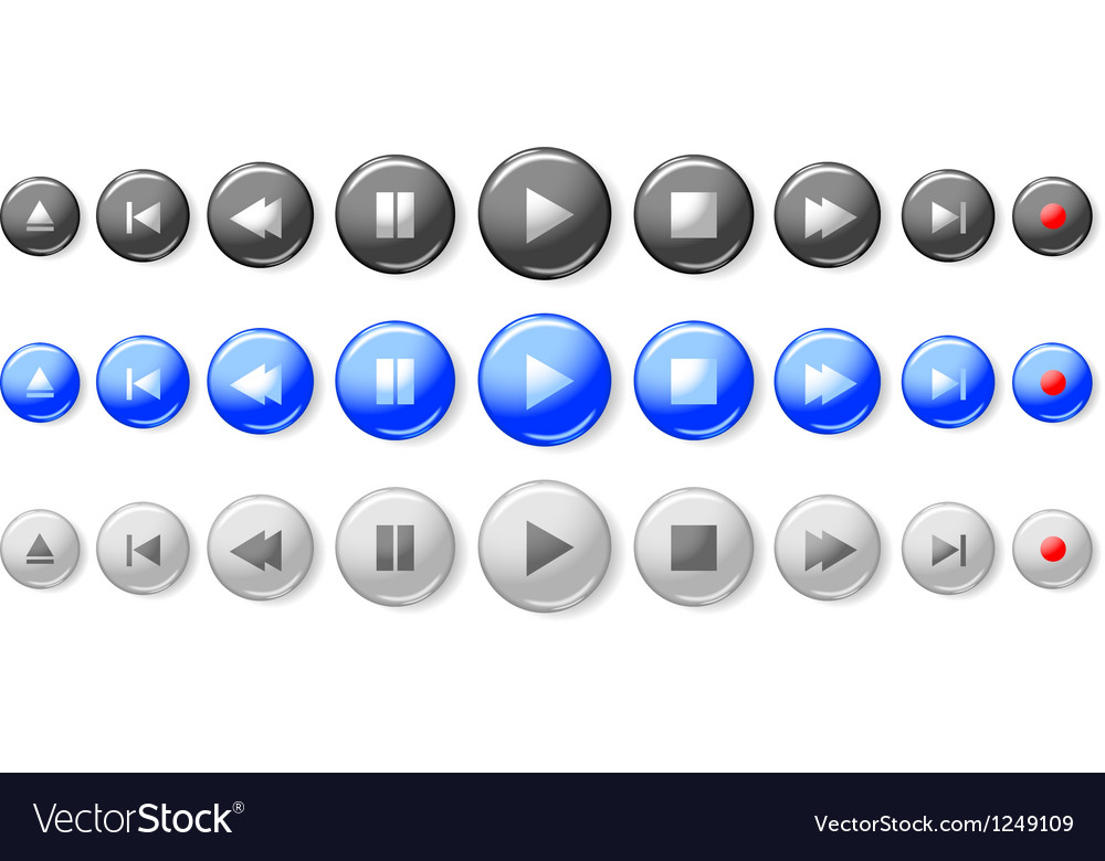 Buttons control vector | Price: 1 Credit (USD $1)