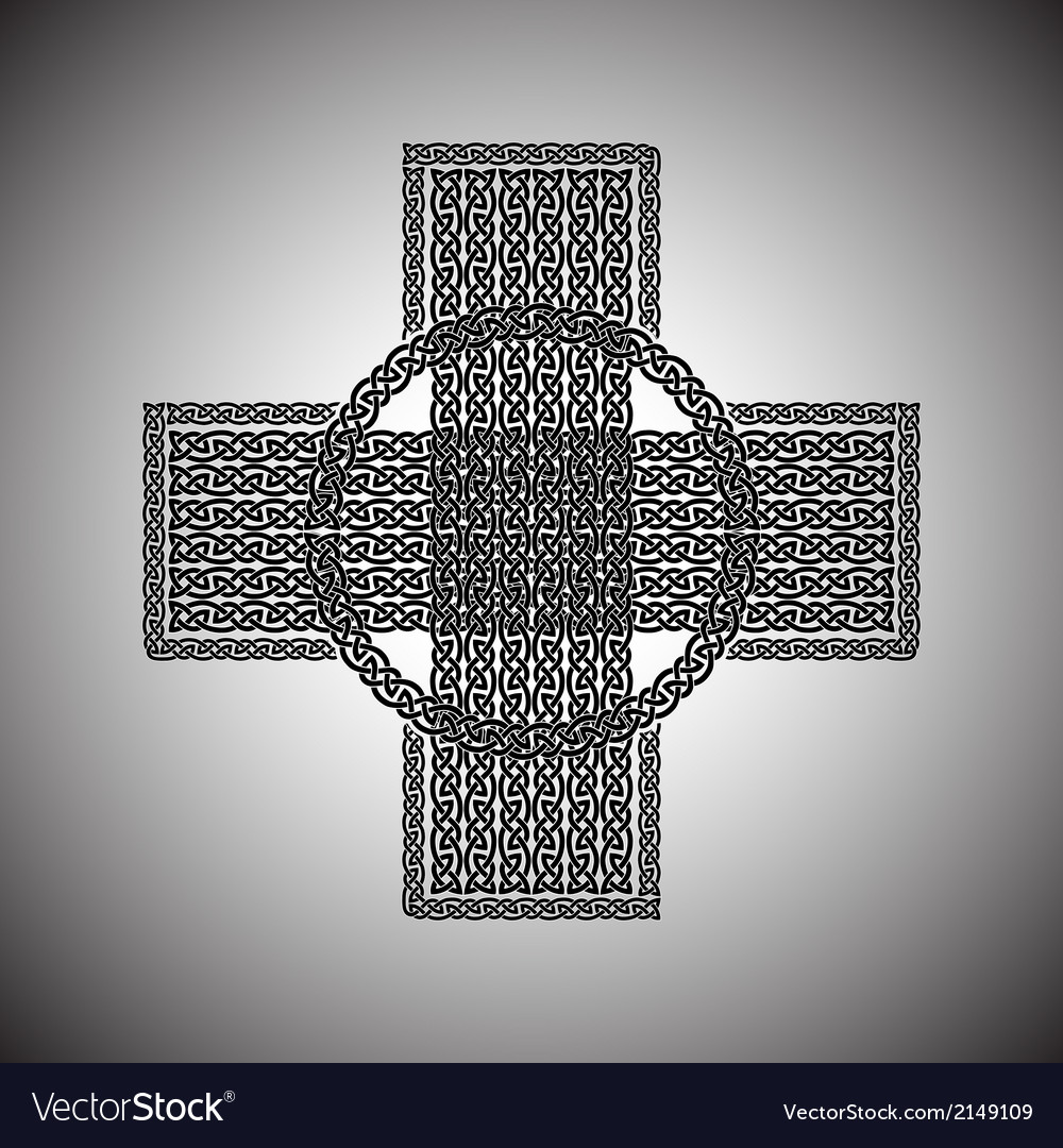 Celtic cross on a gray background vector | Price: 1 Credit (USD $1)