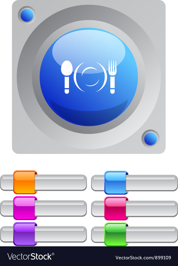 Dinner color round button vector | Price: 1 Credit (USD $1)