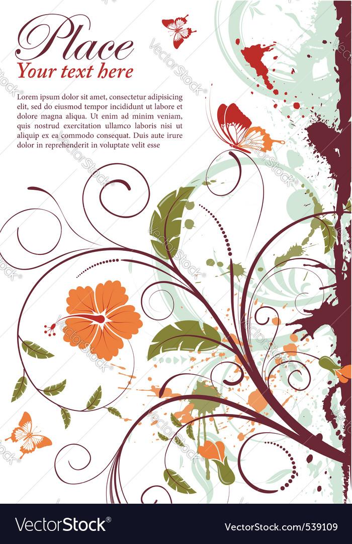 Grunge decorative floral vector | Price: 1 Credit (USD $1)