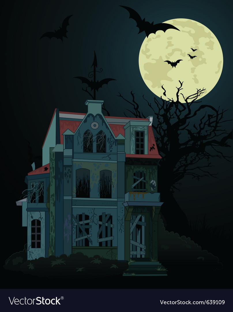 Haunted house vector | Price: 3 Credit (USD $3)