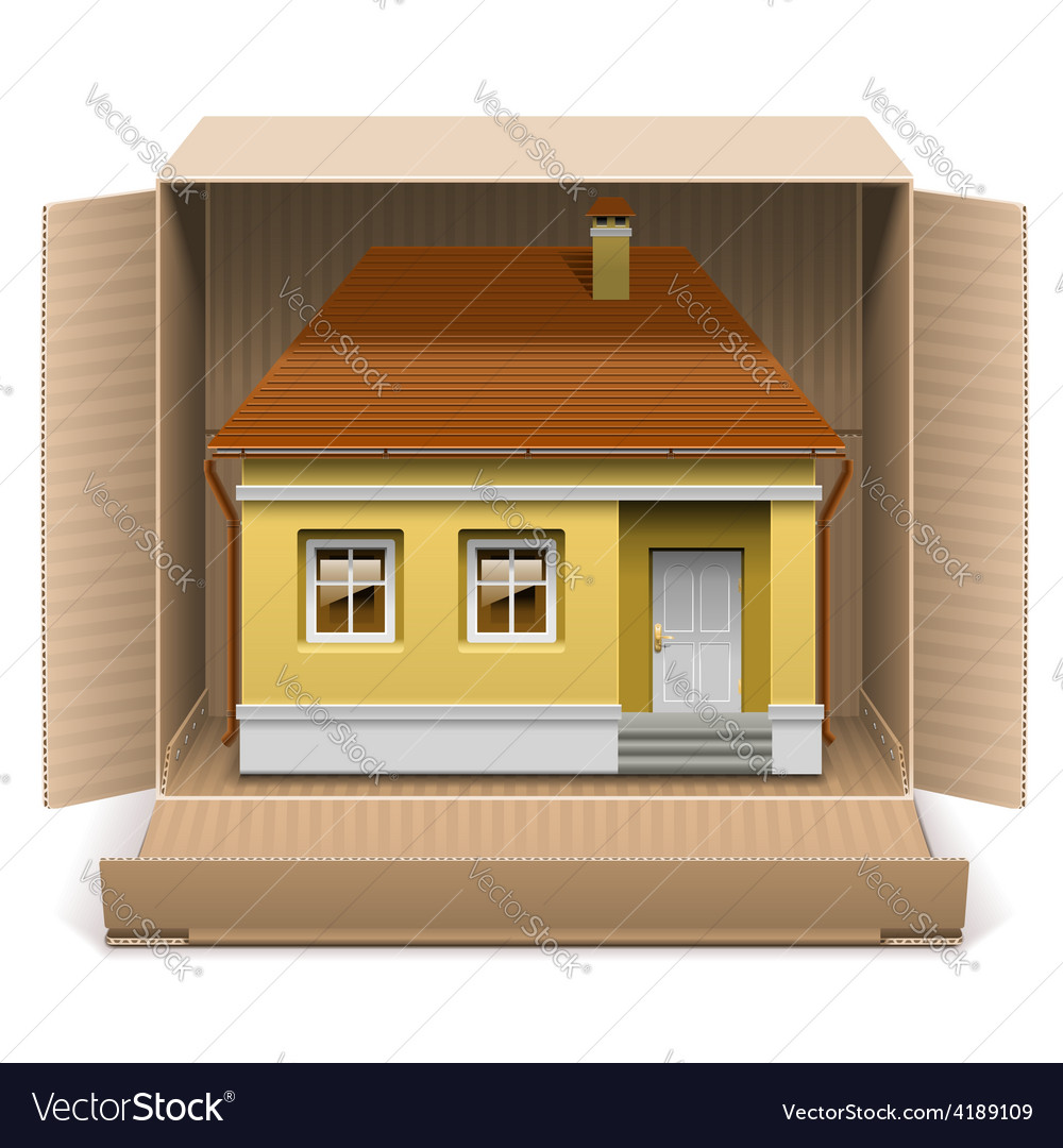 House in carton box vector | Price: 3 Credit (USD $3)