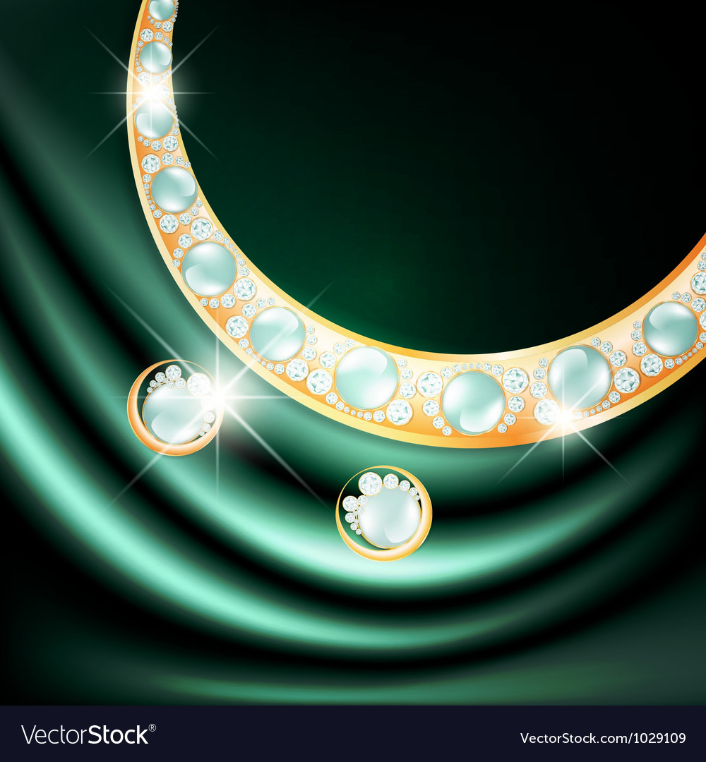 Jewelry gemstone set vector | Price: 1 Credit (USD $1)