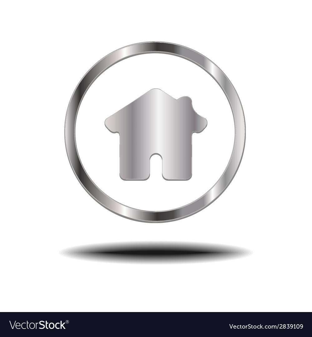 Metal home icon vector | Price: 1 Credit (USD $1)
