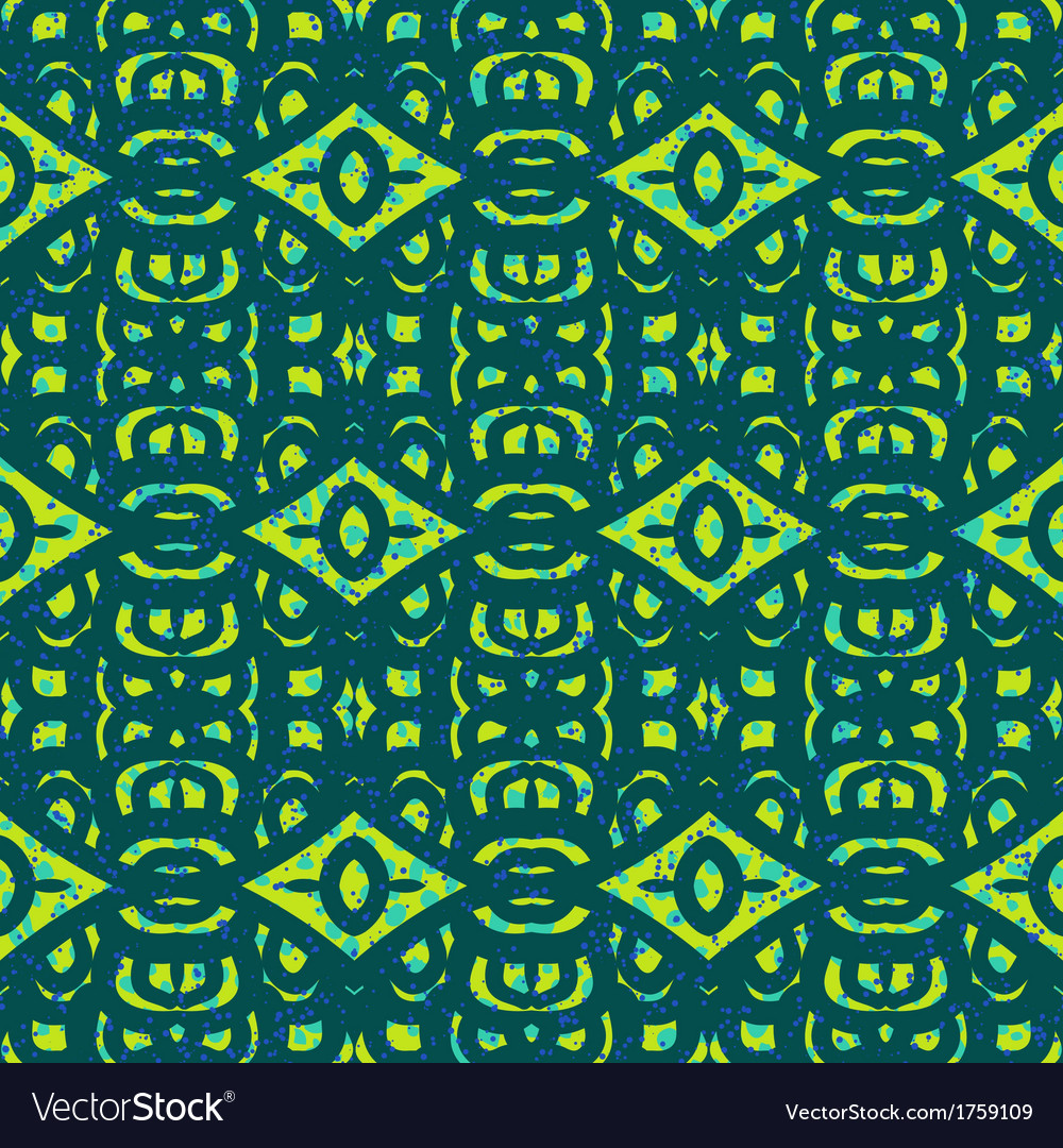 Pattern with bold ethnic stylized ornaments vector | Price: 1 Credit (USD $1)