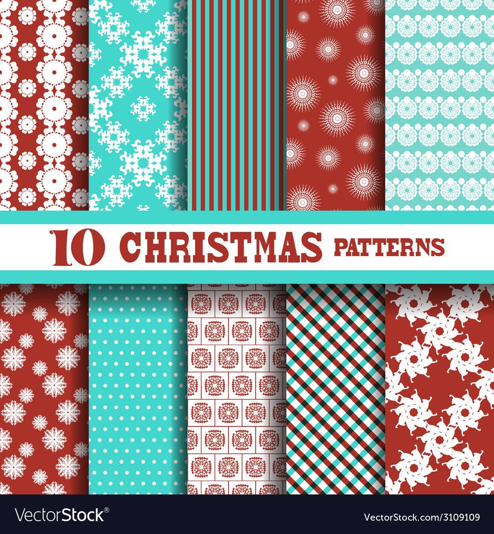 Seamless patterns set vector | Price: 1 Credit (USD $1)