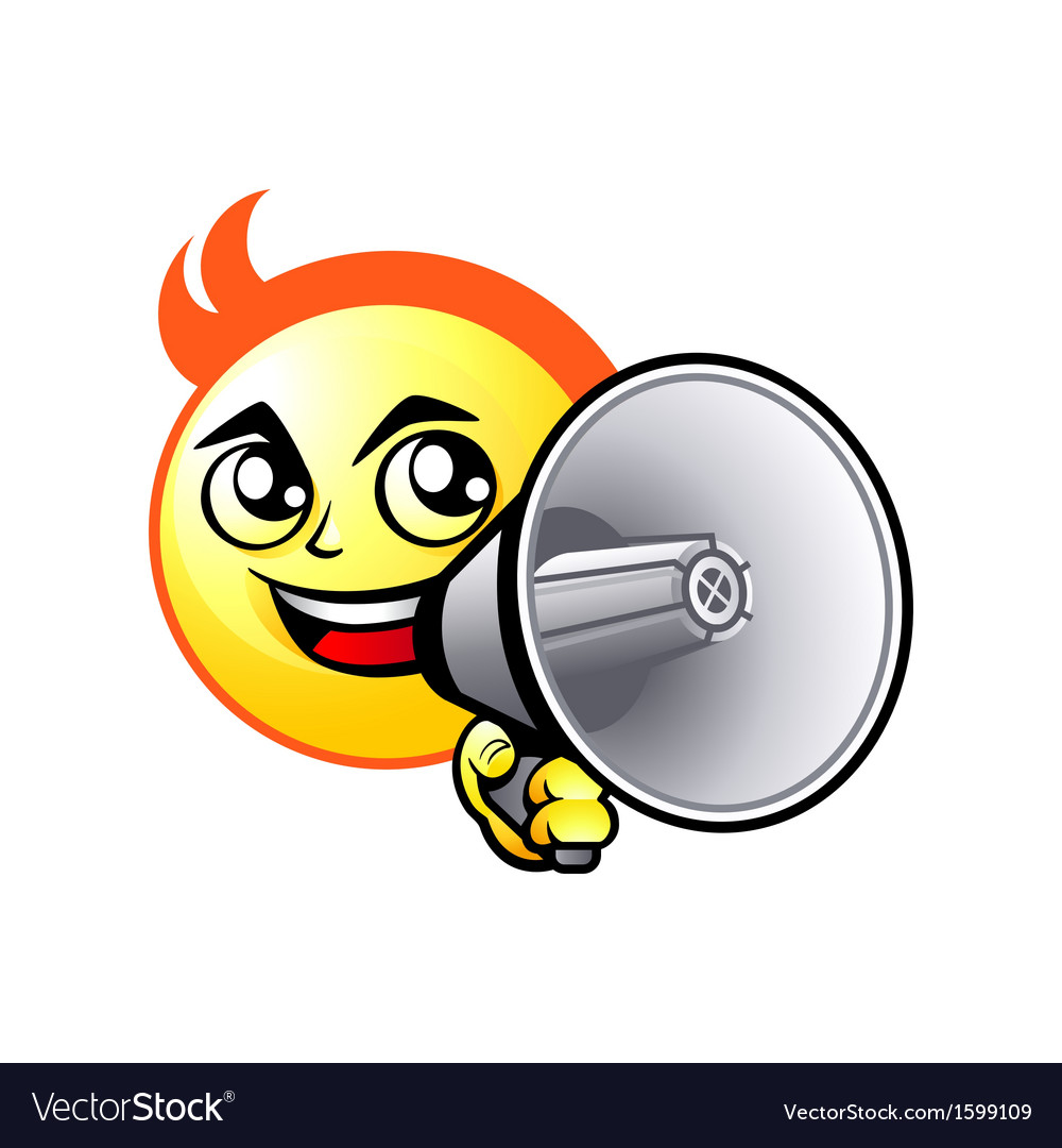Shout out smiley vector   Price: 1 Credit (USD $1)