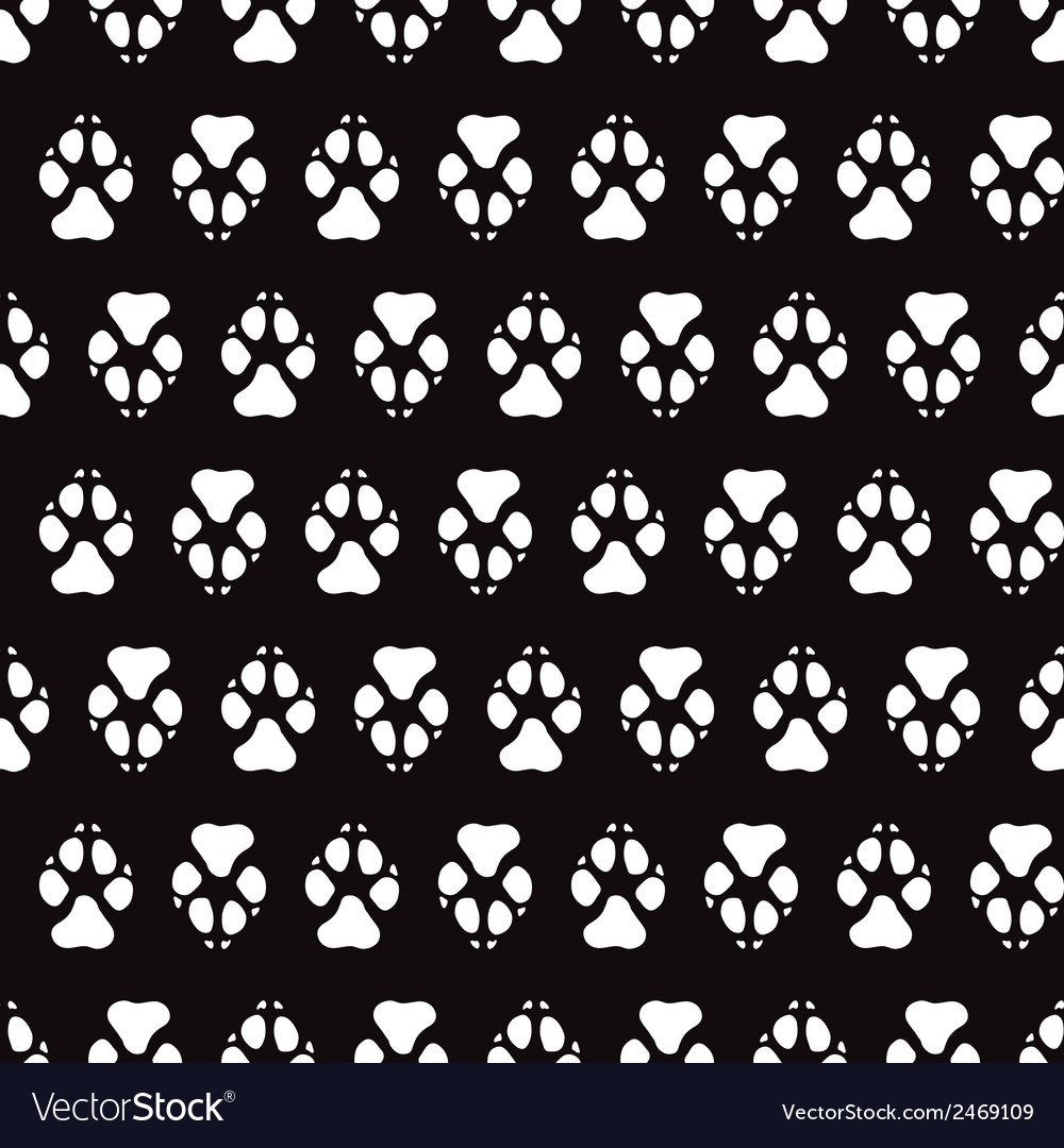 Traces dogs seamless pattern vector | Price: 1 Credit (USD $1)