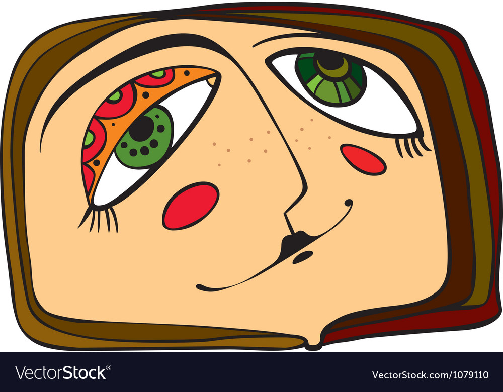 Face abstract vector | Price: 1 Credit (USD $1)