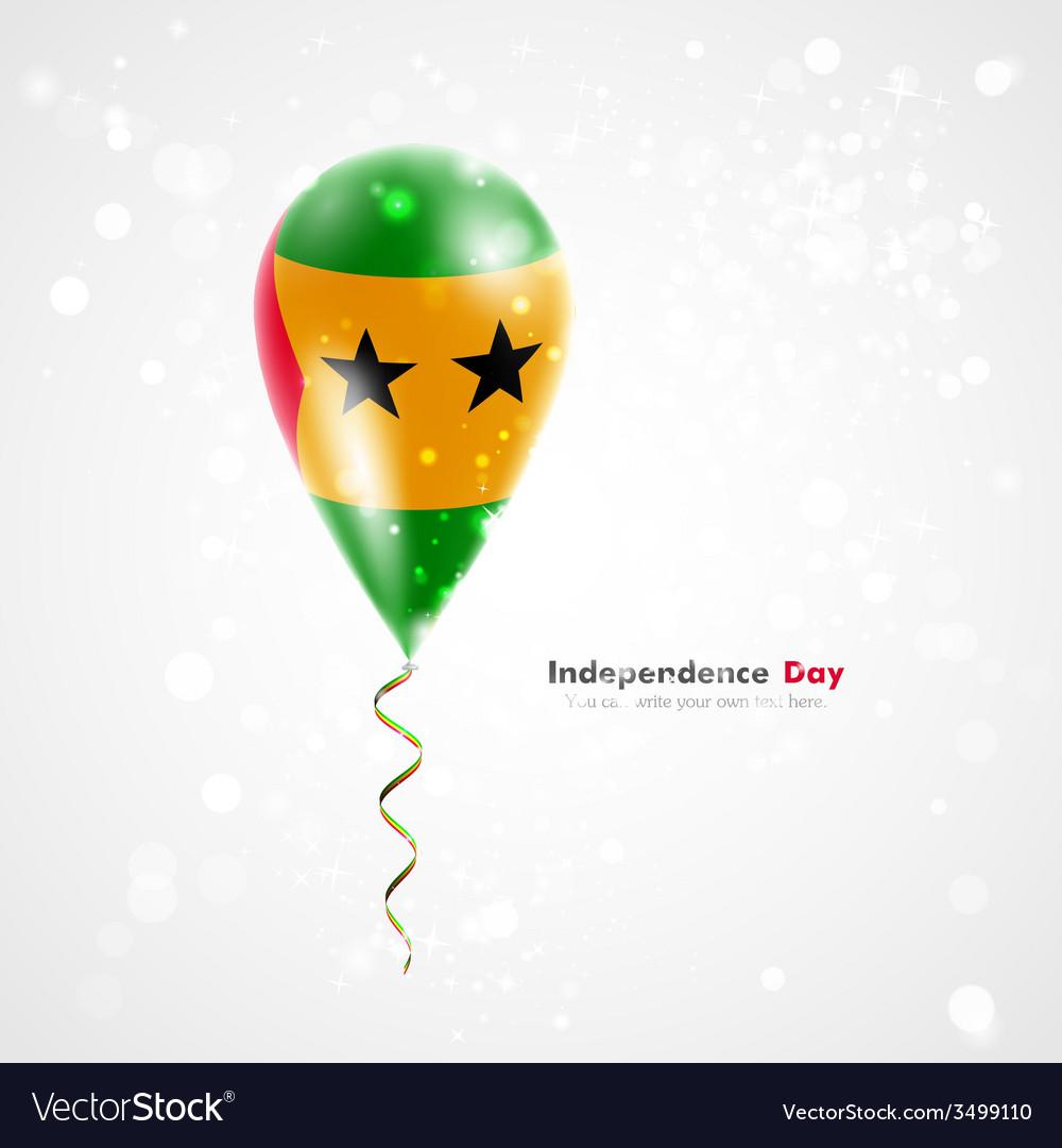 Flag of sao tome and principe on balloon vector | Price: 1 Credit (USD $1)
