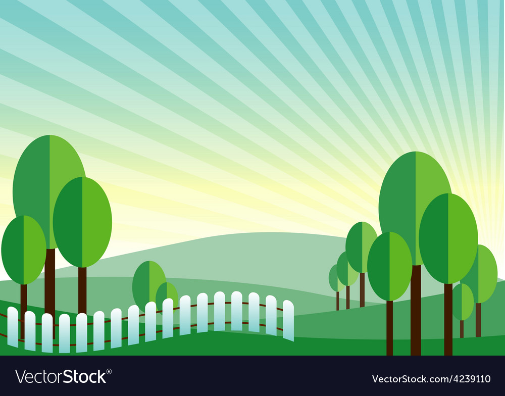 Green land mountain background vector | Price: 1 Credit (USD $1)