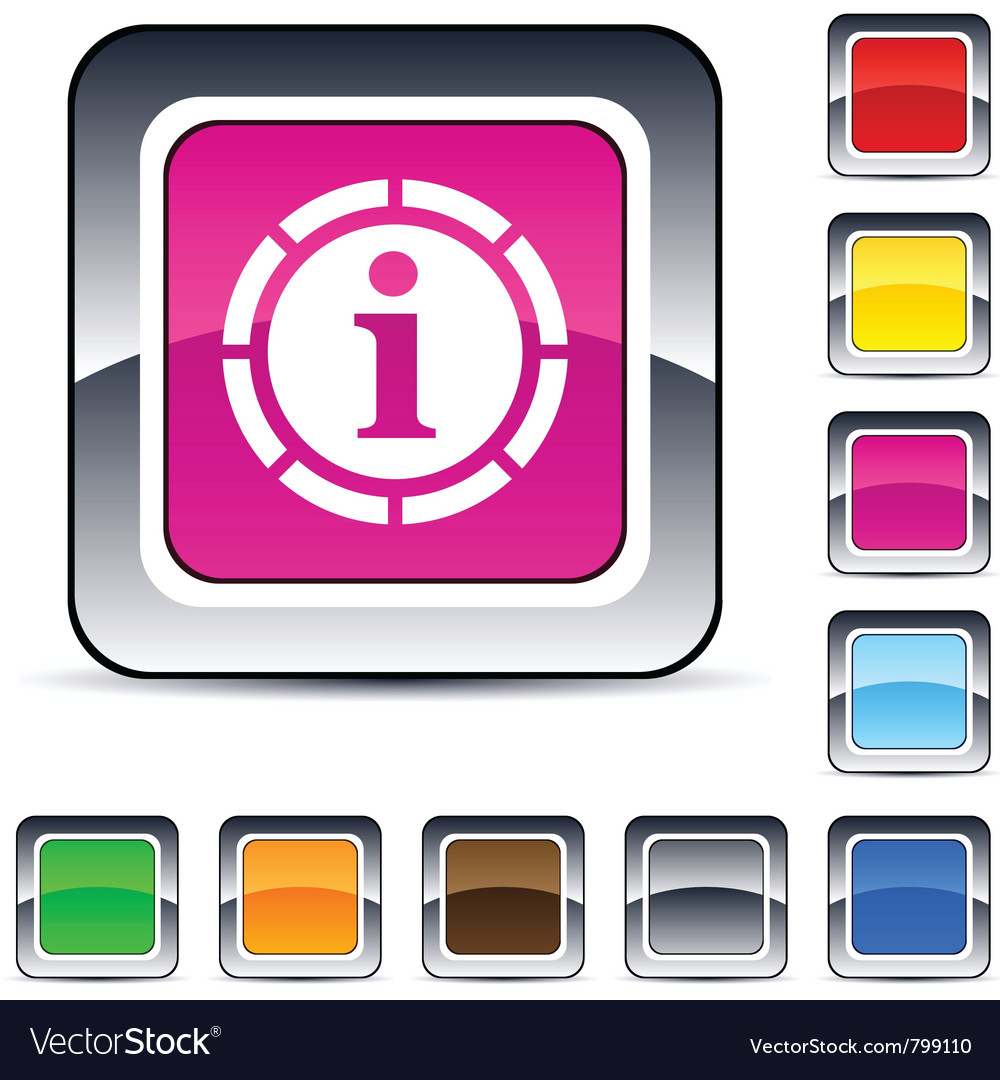 Information square button vector | Price: 1 Credit (USD $1)