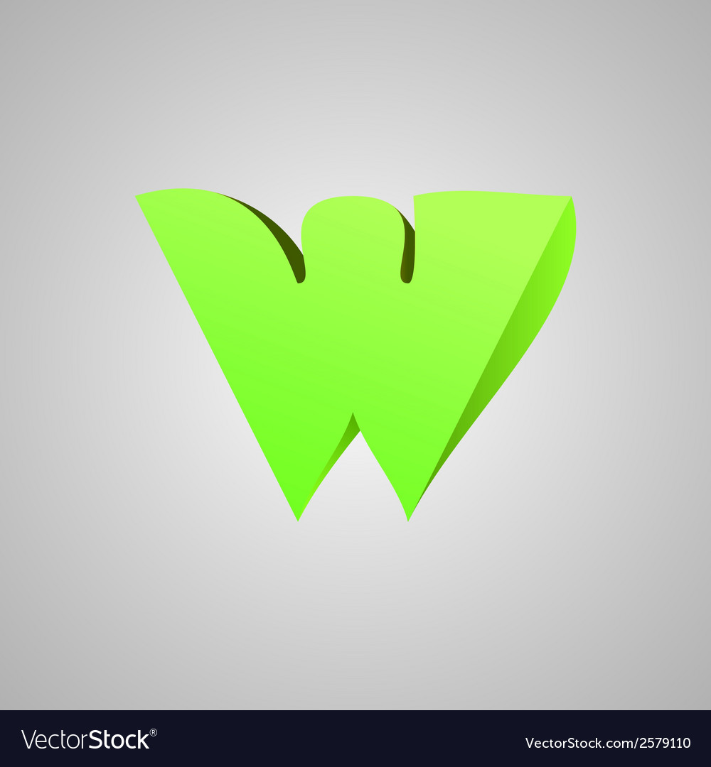 Letter w comic style font eps10 vector | Price: 1 Credit (USD $1)