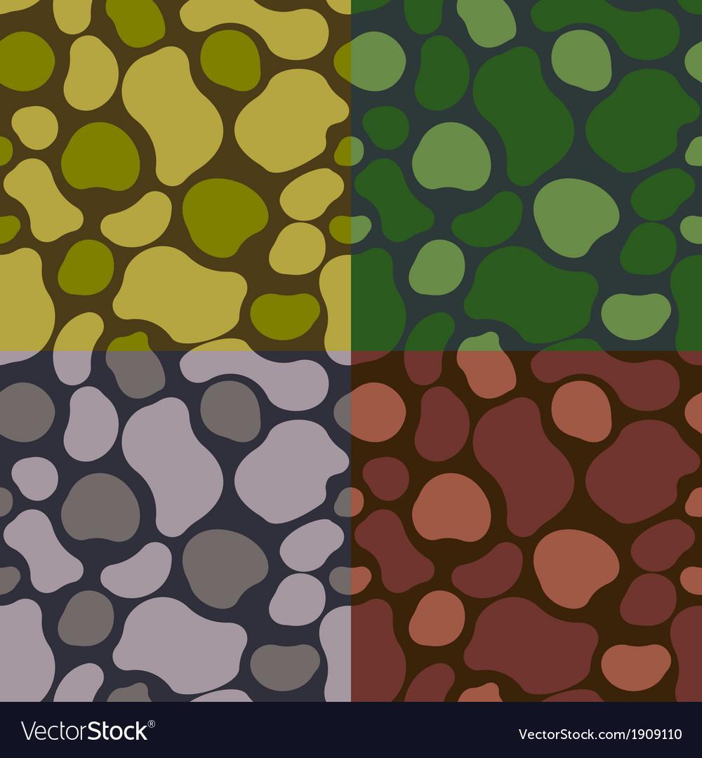 Pattern khaki set vector | Price: 1 Credit (USD $1)