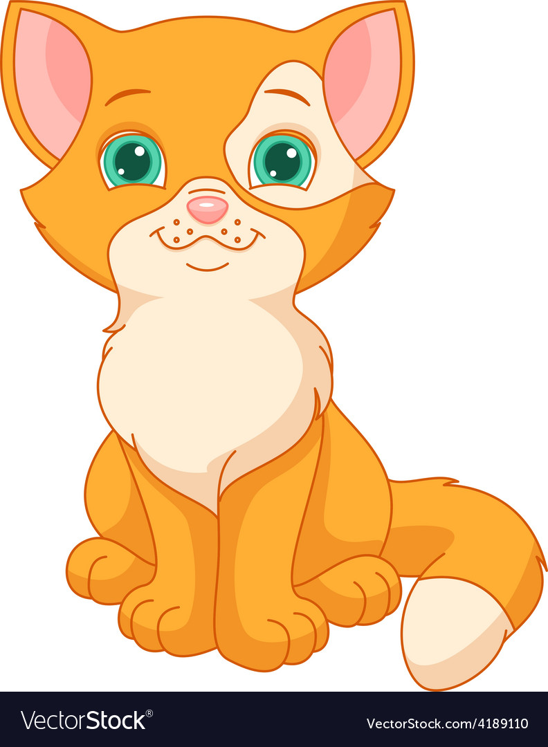 Red kitten vector | Price: 3 Credit (USD $3)