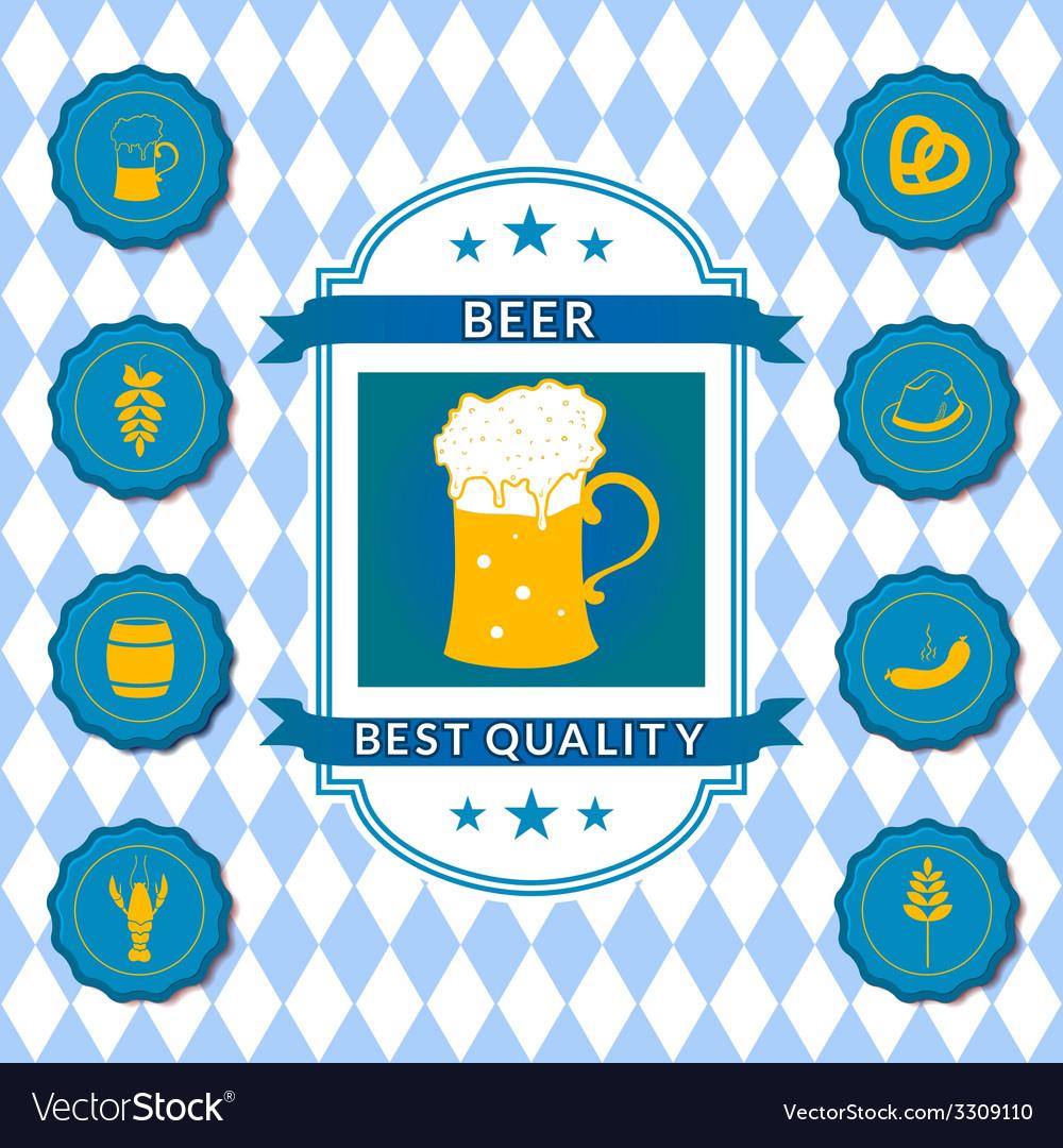 Retro beer label vector | Price: 1 Credit (USD $1)