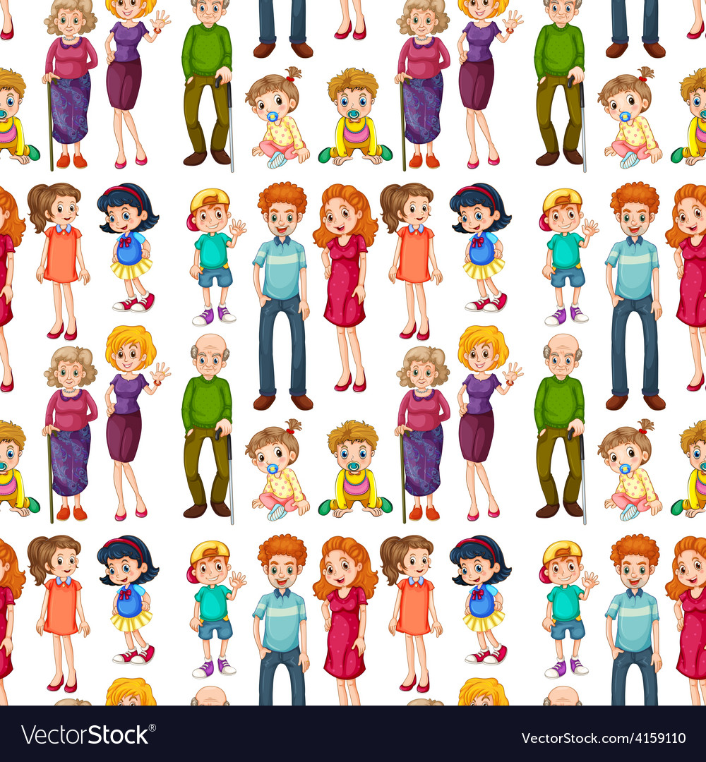 Seamless family vector   Price: 3 Credit (USD $3)