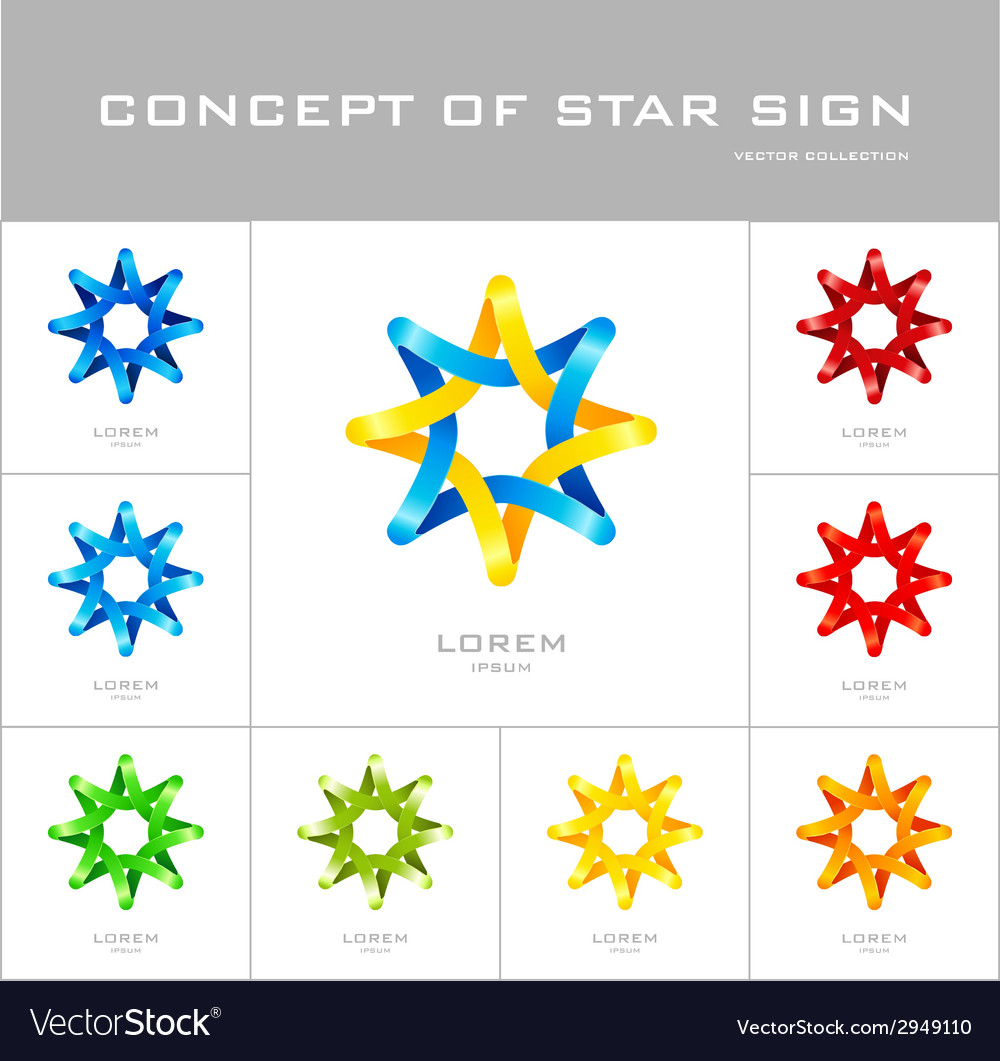 Star logo design template vector | Price: 1 Credit (USD $1)