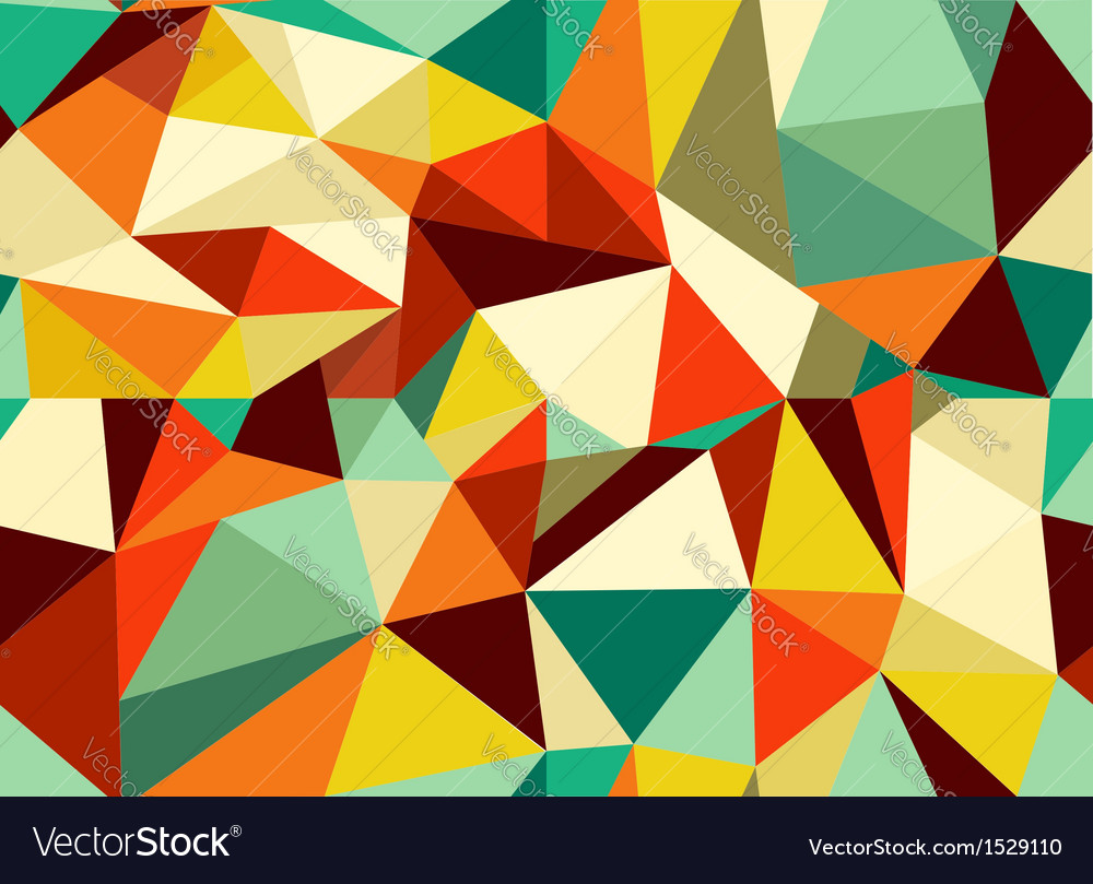 Trendy vintage geometric seamless pattern vector | Price: 1 Credit (USD $1)
