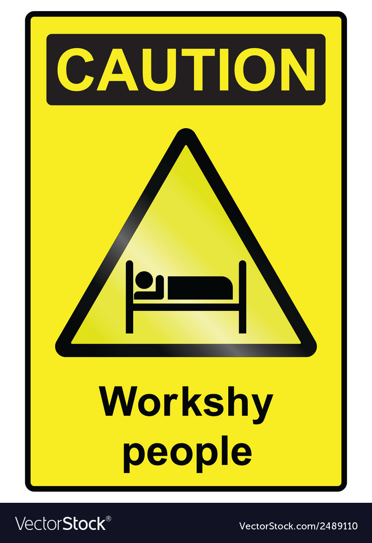 Workshy hazard sign vector | Price: 1 Credit (USD $1)