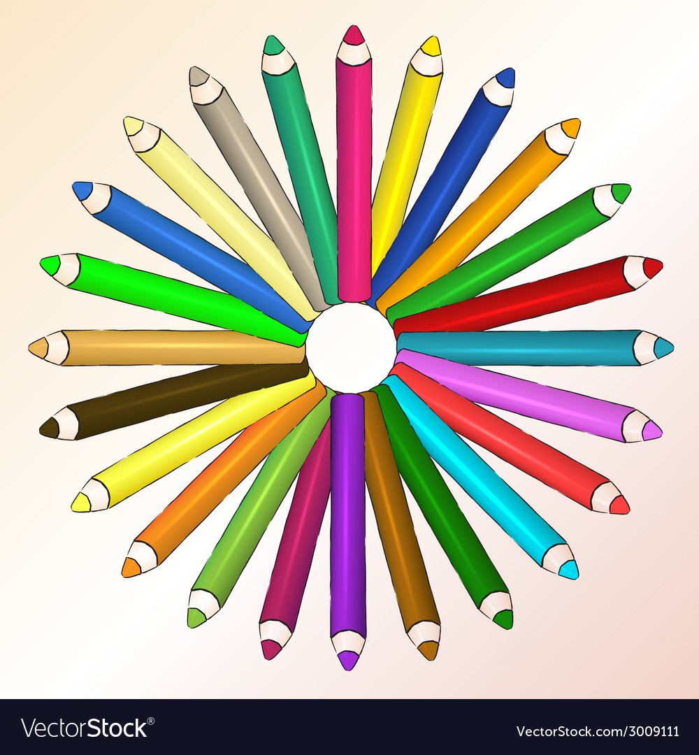 Arts concept with pencils vector | Price: 1 Credit (USD $1)