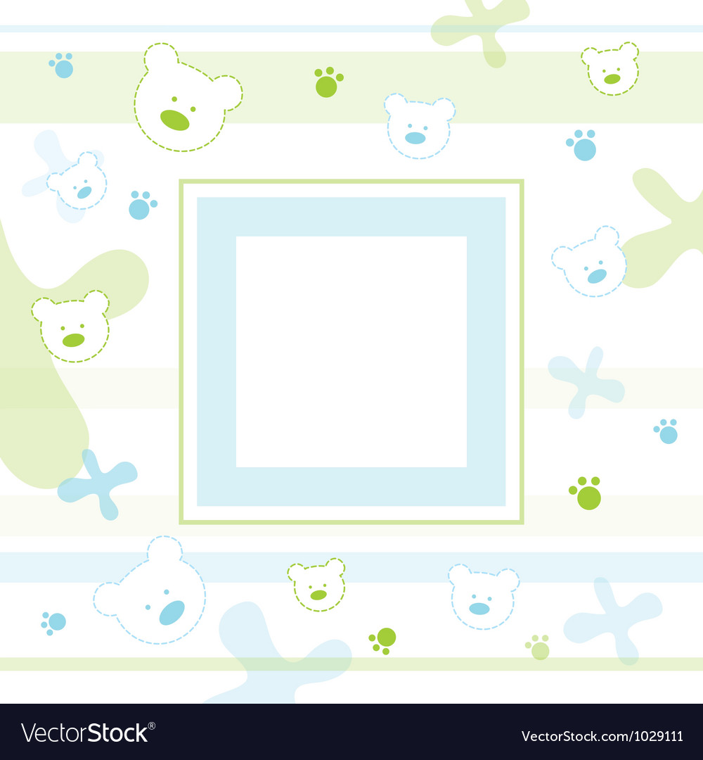 Baby teddy frame vector | Price: 1 Credit (USD $1)