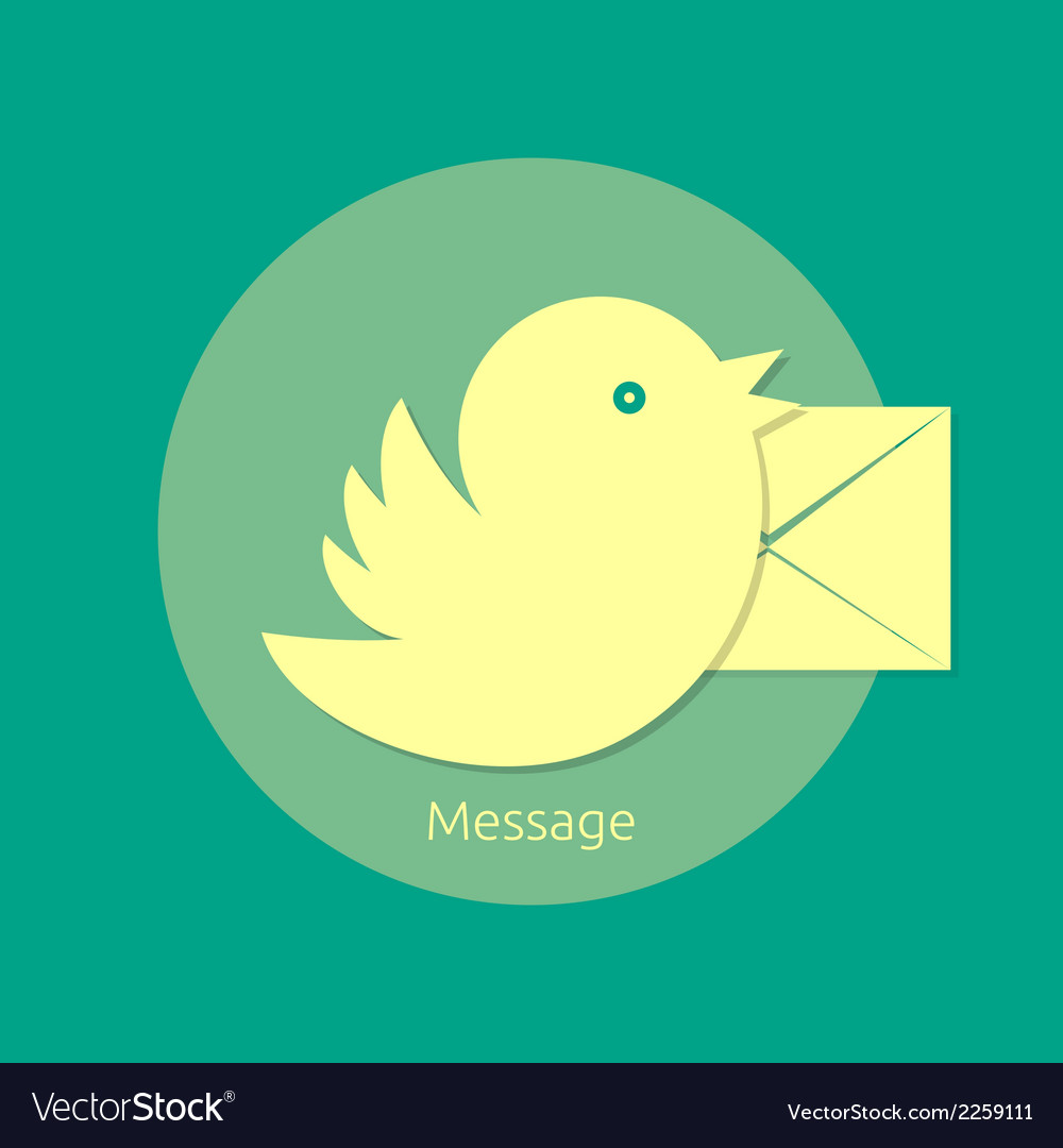 Bird letter message vector | Price: 1 Credit (USD $1)