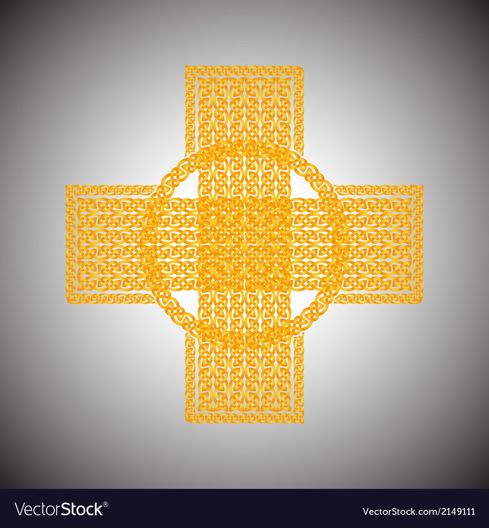 Celtic cross on a gray background vector   Price: 1 Credit (USD $1)