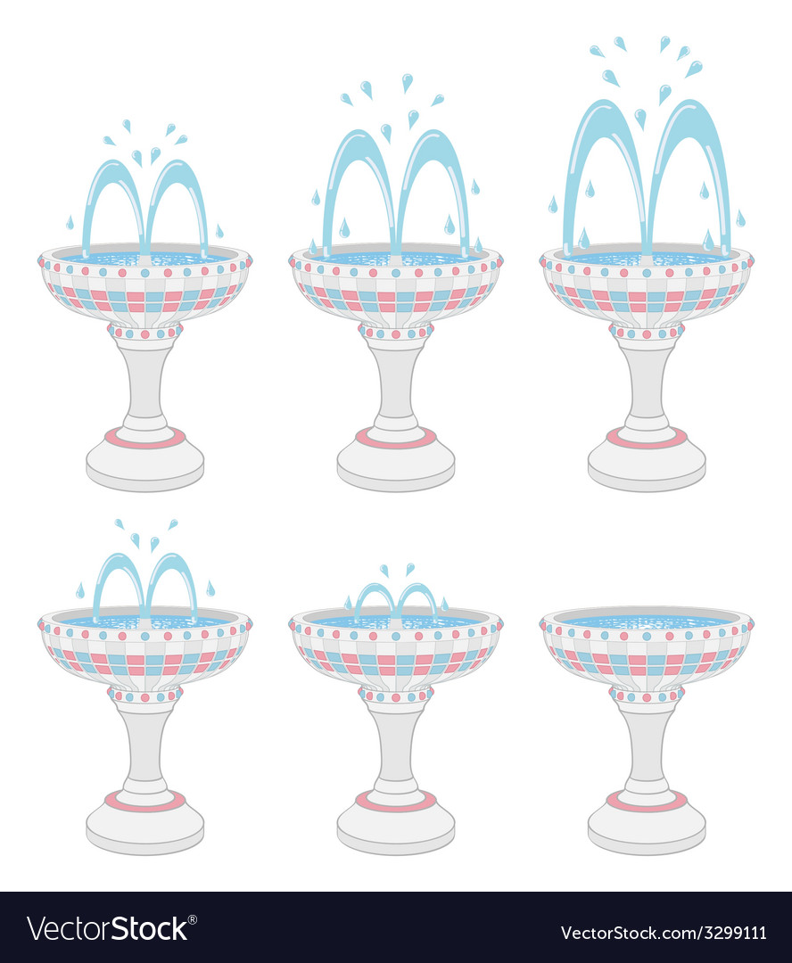 Fountains vector | Price: 1 Credit (USD $1)