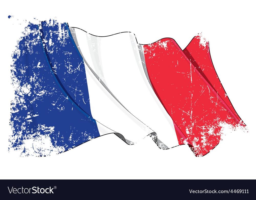 France flag grunge vector | Price: 1 Credit (USD $1)