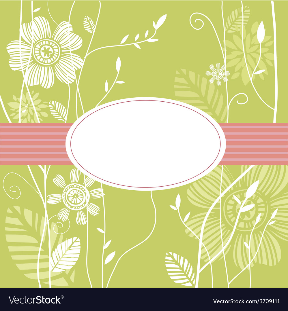 Greeting card floral background vector | Price: 1 Credit (USD $1)