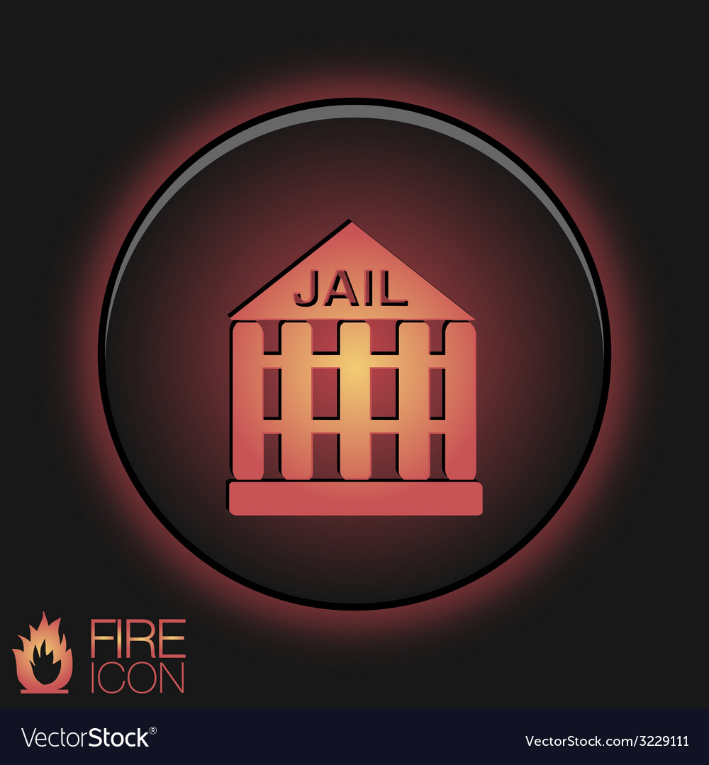 Icon prison symbol of justice police icon vector | Price: 1 Credit (USD $1)