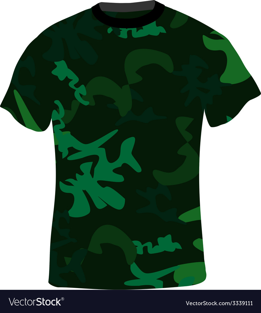 Military shirt vector | Price: 1 Credit (USD $1)