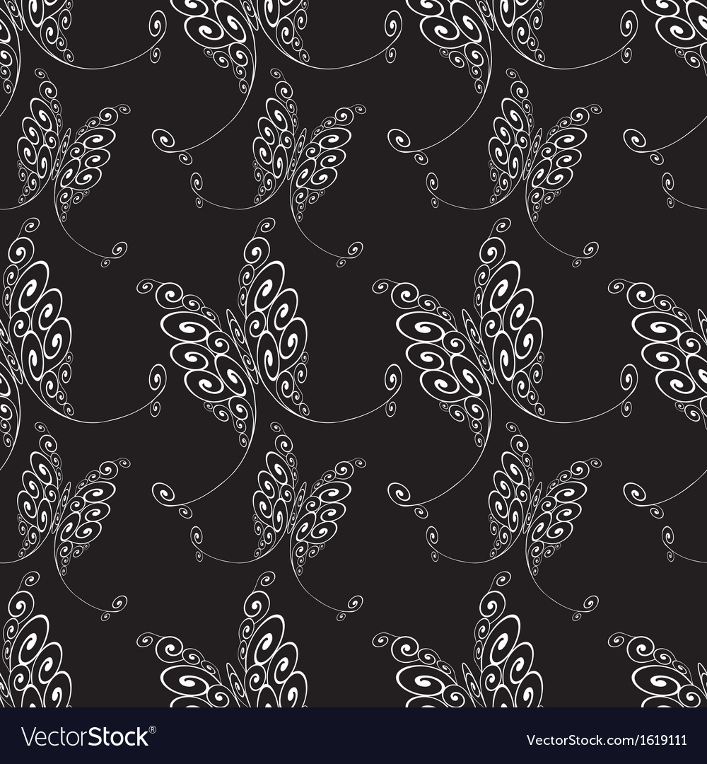 Seamless abstract butterflies pattern vector | Price: 1 Credit (USD $1)